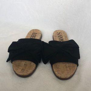 Sam & Libby black bow sandals.